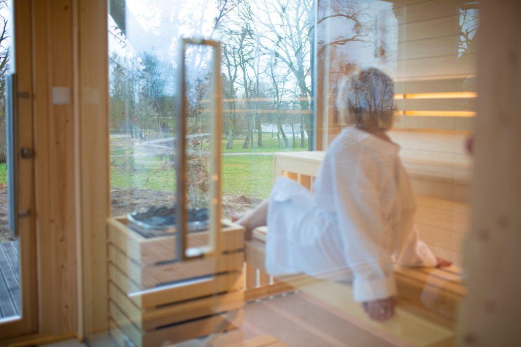 sauna sucha Pałac Komierowo