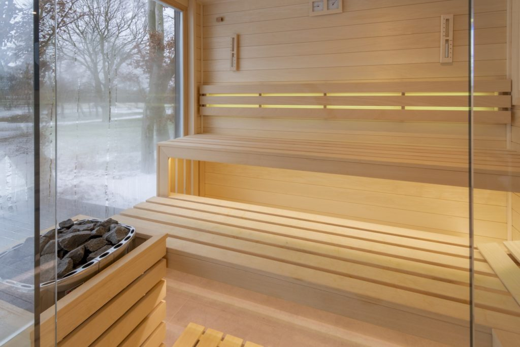 sauna fińska spa Pałac Komierowo