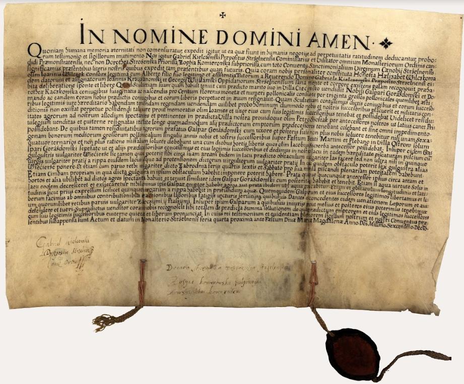 Zofia Komierowska dokument z 1614 r.